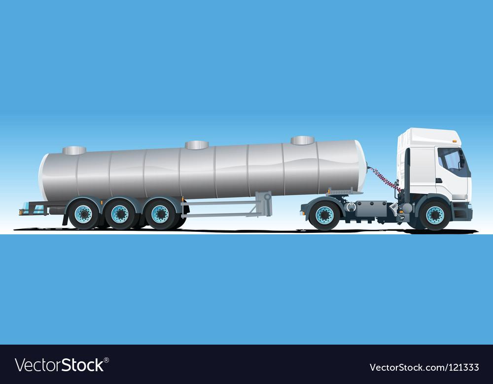 Tanker semitrailer truck vector | Price: 1 Credit (USD $1)