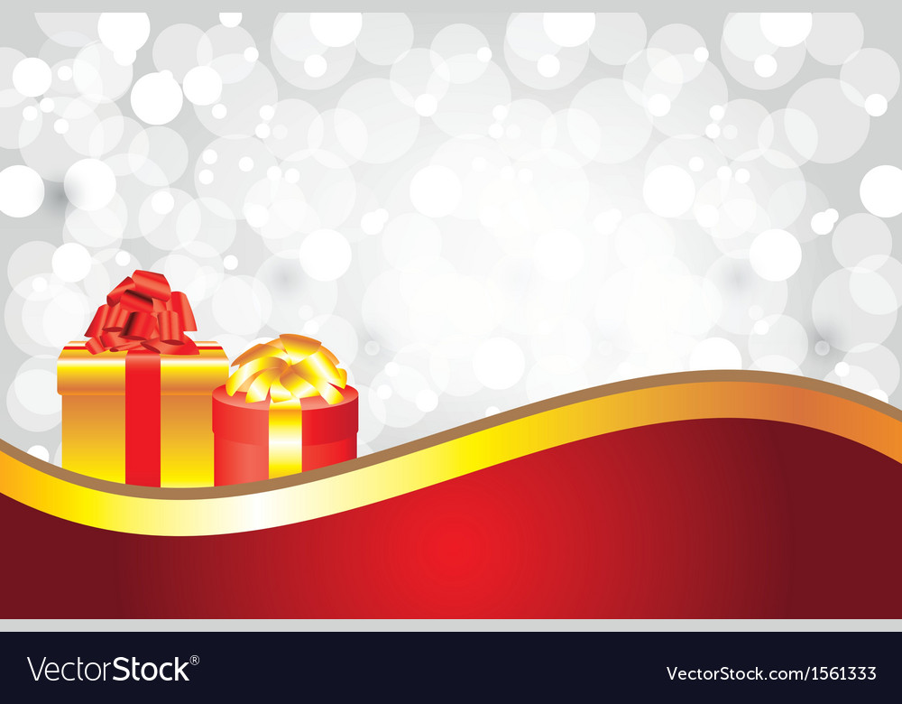 White christmas background gifts golden stripe vector | Price: 1 Credit (USD $1)