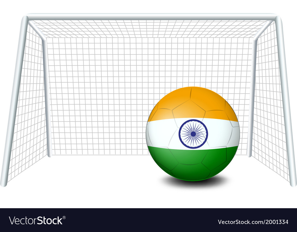 A soccer ball with the flag of india vector | Price: 1 Credit (USD $1)