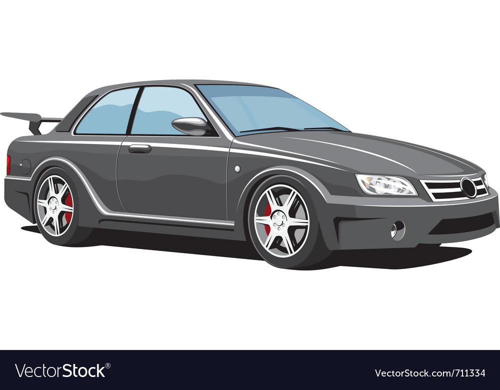 Black sports car vector | Price: 3 Credit (USD $3)