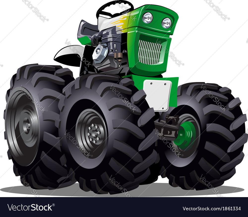 Cartoon tractor vector | Price: 3 Credit (USD $3)