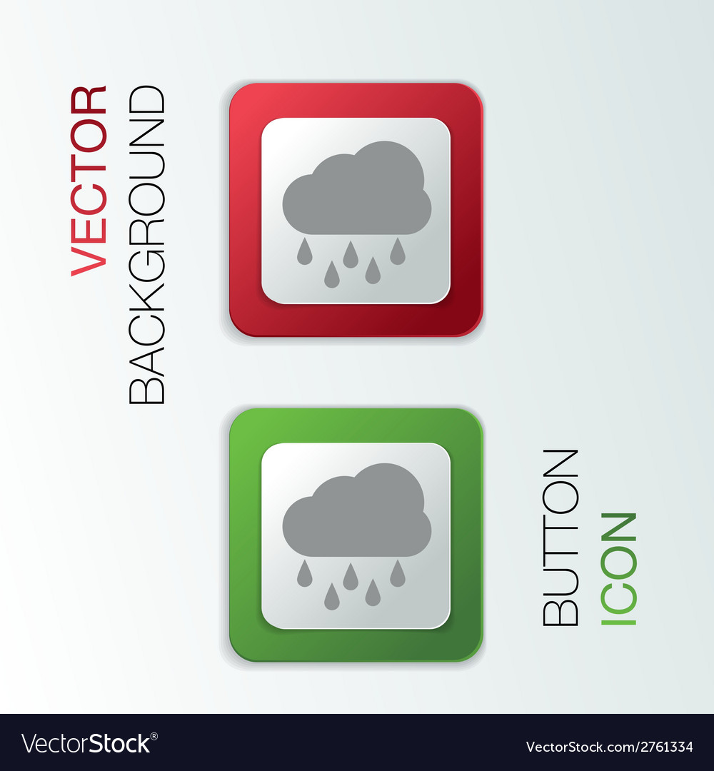 Cloud rain the weather icon vector   Price: 1 Credit (USD $1)