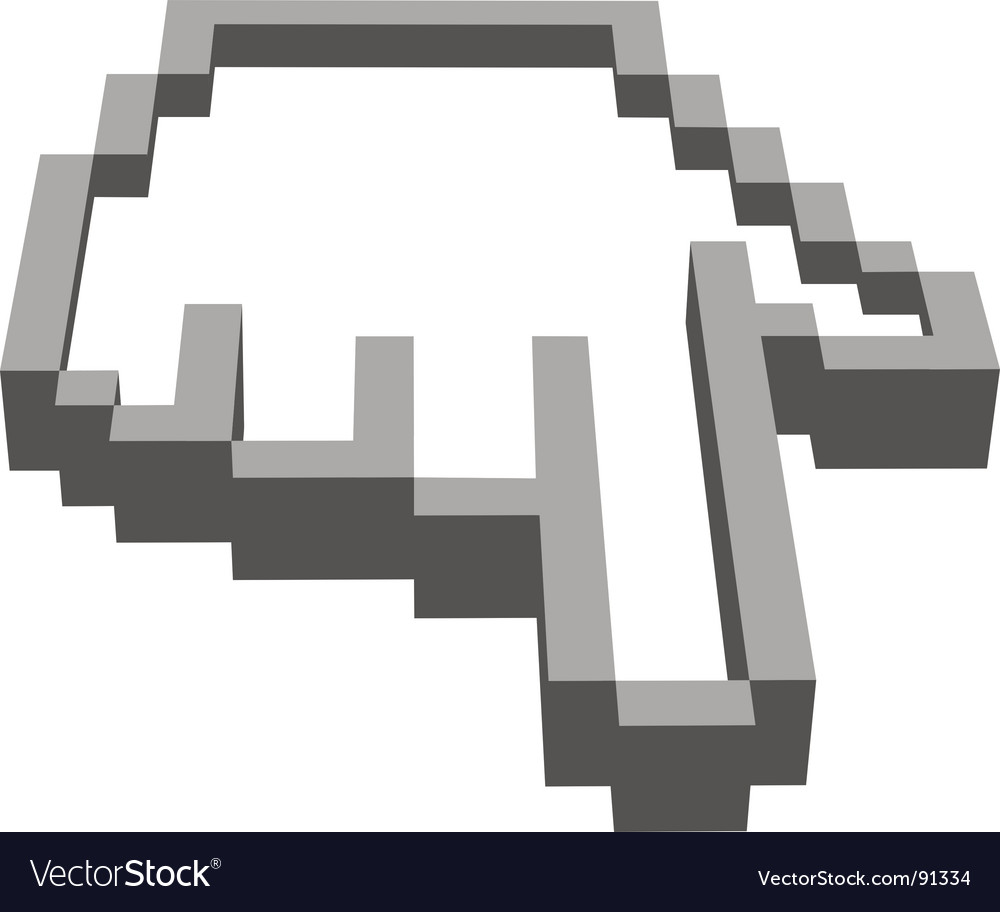 Computer hand vector | Price: 1 Credit (USD $1)