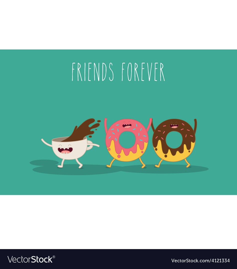 Donat and coffee vector | Price: 1 Credit (USD $1)