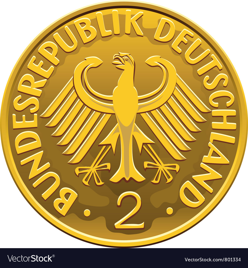 German money silver coin vector | Price: 1 Credit (USD $1)