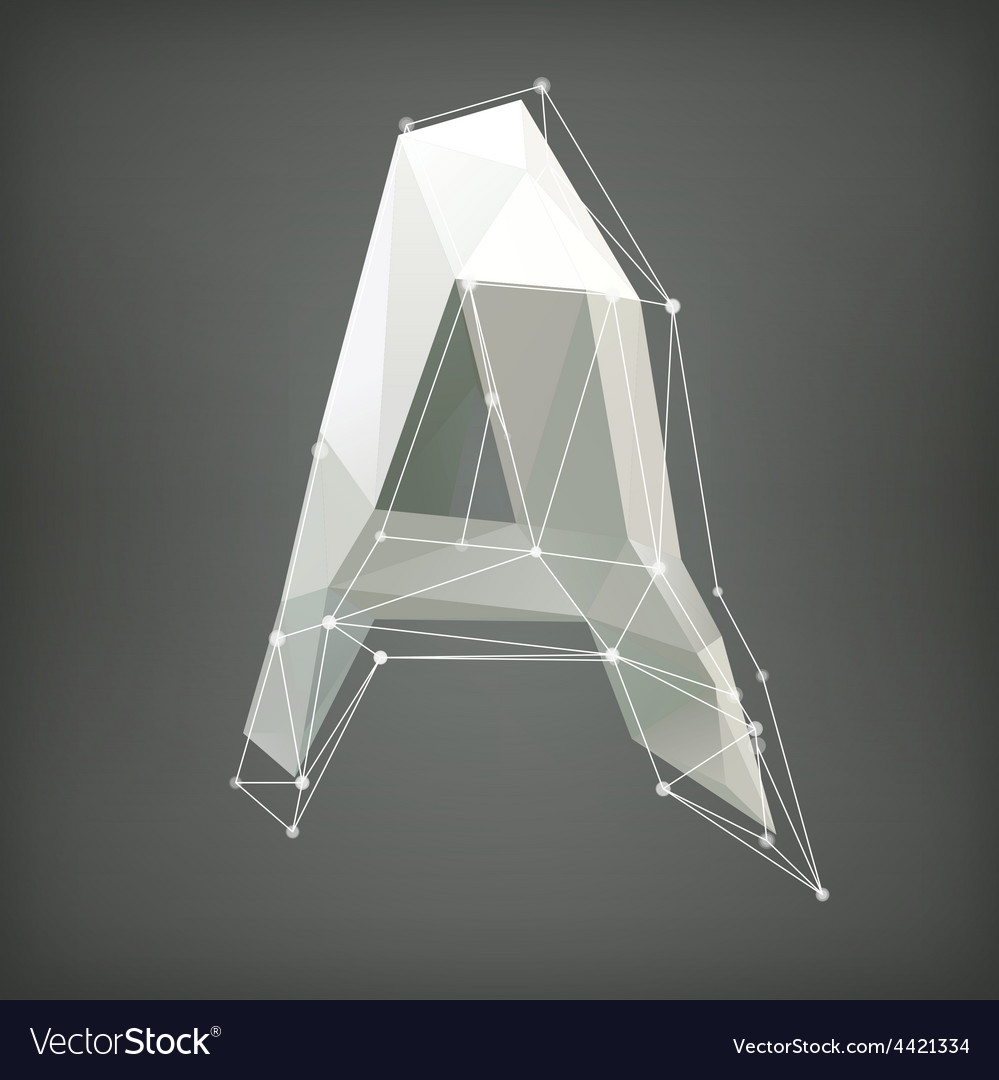 Low poly alphabet  letter vector | Price: 1 Credit (USD $1)