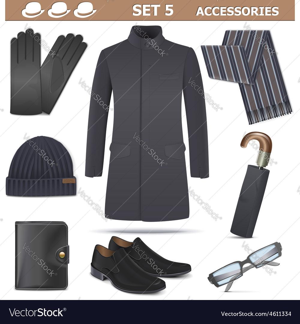 Male accessories set 5 vector | Price: 5 Credit (USD $5)
