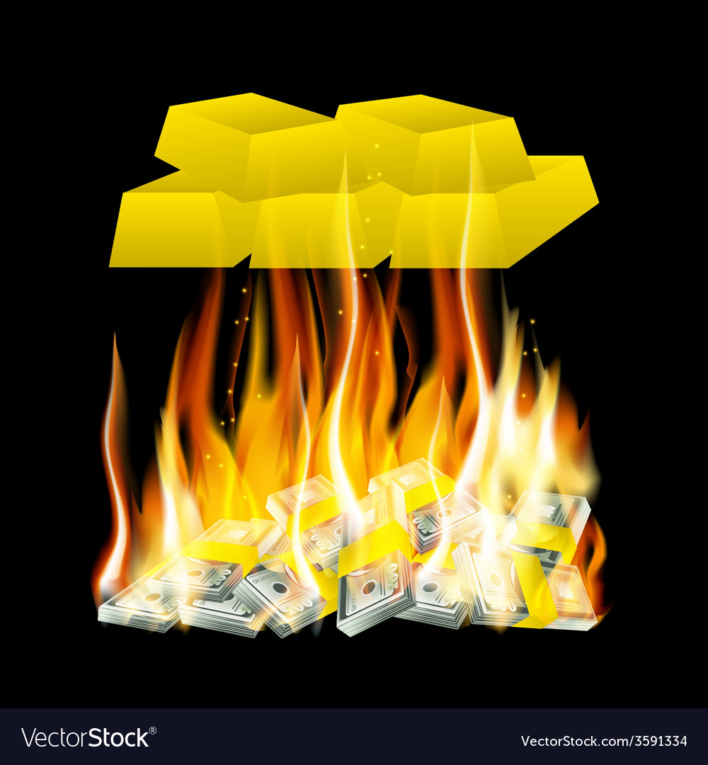 Money in the fire vector | Price: 1 Credit (USD $1)
