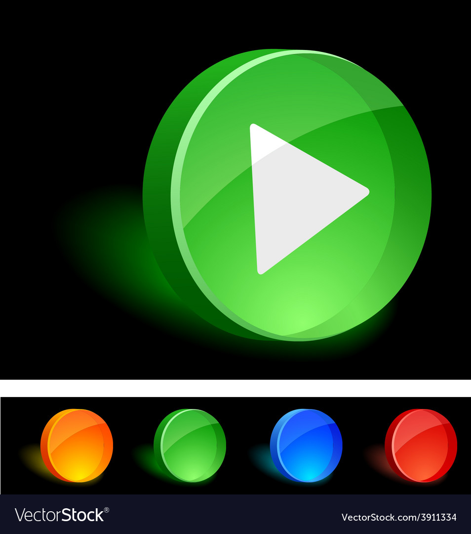 Play icon vector | Price: 1 Credit (USD $1)