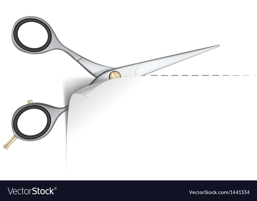 Scissors and paper curl vector | Price: 1 Credit (USD $1)
