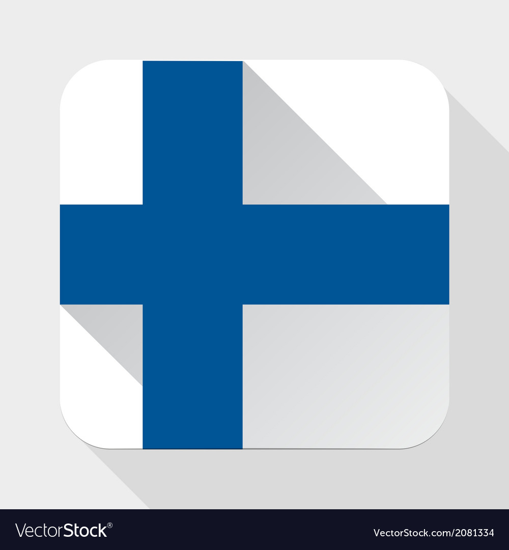 Simple flat icon finland flag vector | Price: 1 Credit (USD $1)