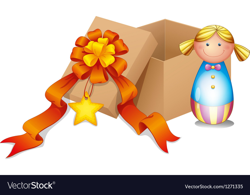 A baby doll with a box vector | Price: 1 Credit (USD $1)