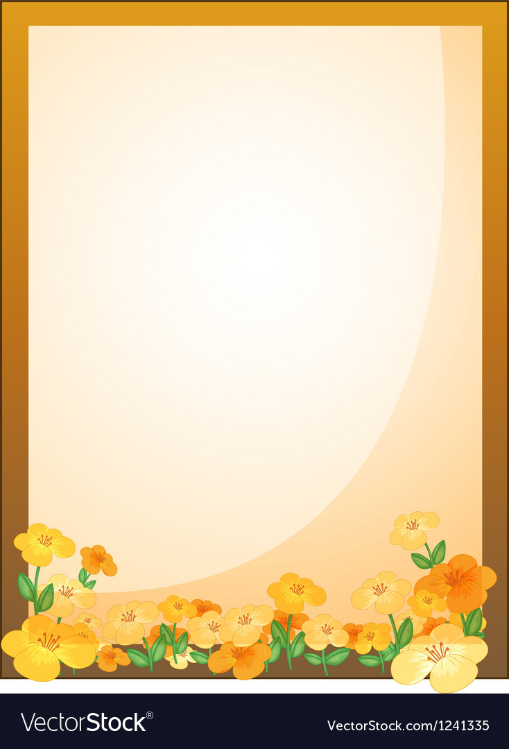 A framed empty signage with flowers vector | Price: 1 Credit (USD $1)