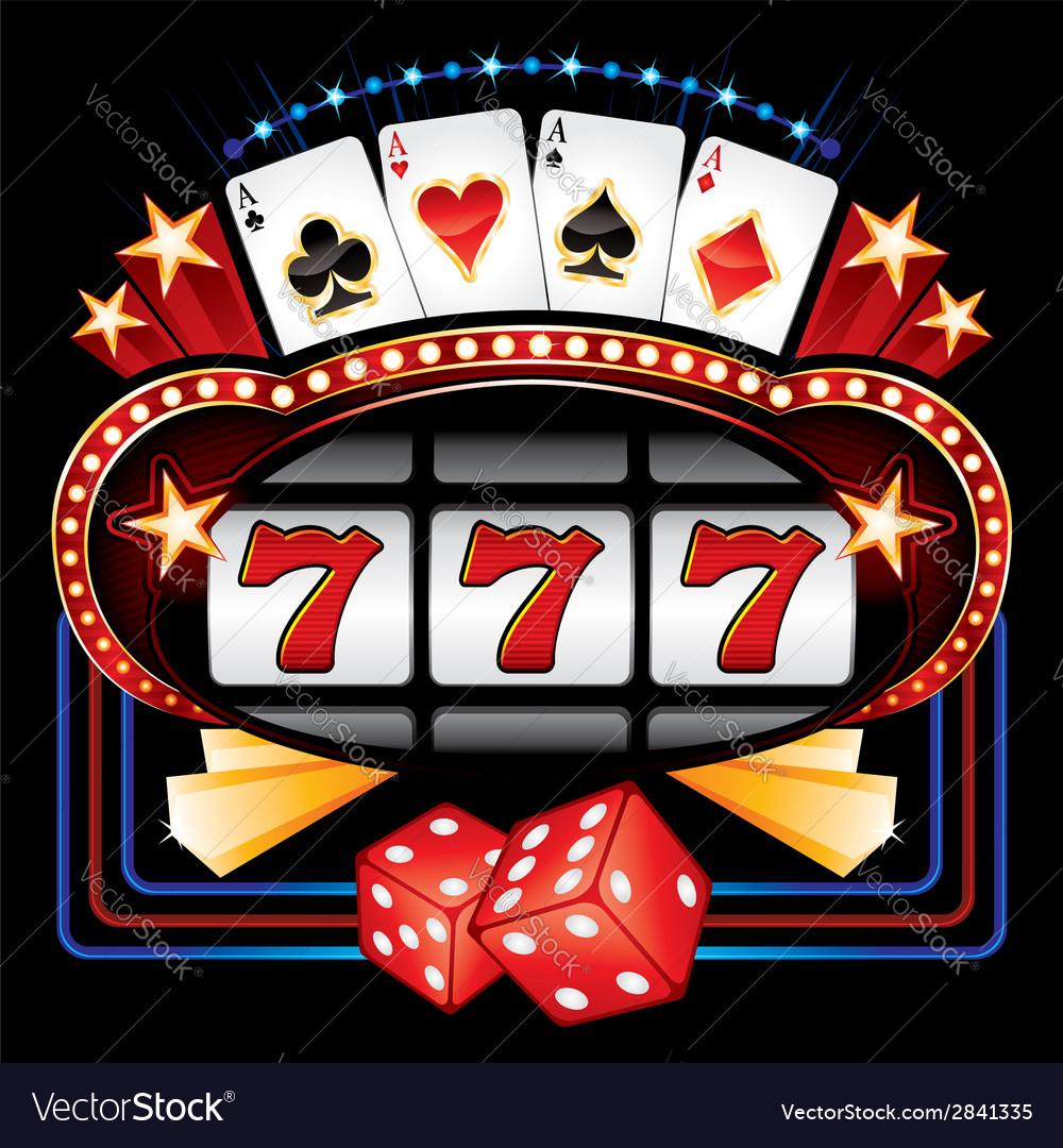 Casino machine vector | Price: 1 Credit (USD $1)