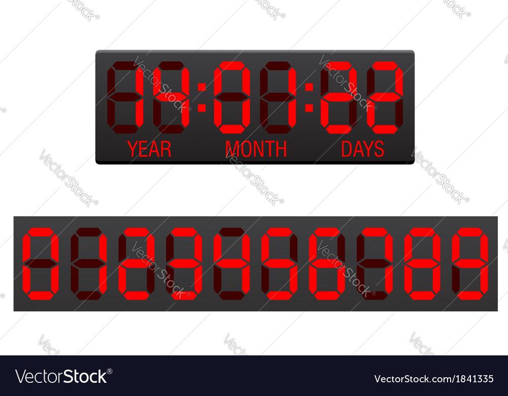 Digital countdown timer 02 vector | Price: 1 Credit (USD $1)