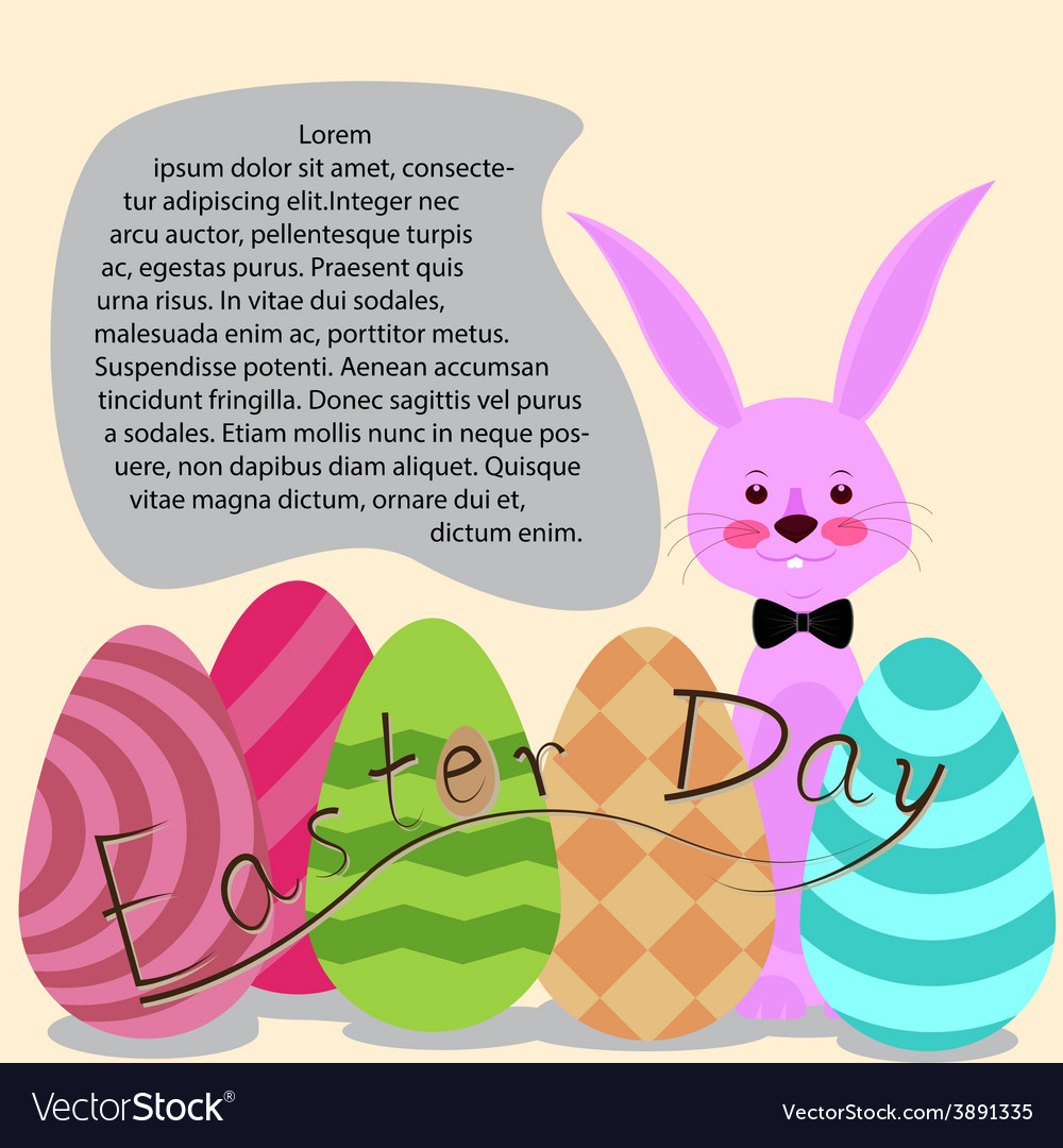 Easter day for card vector | Price: 1 Credit (USD $1)