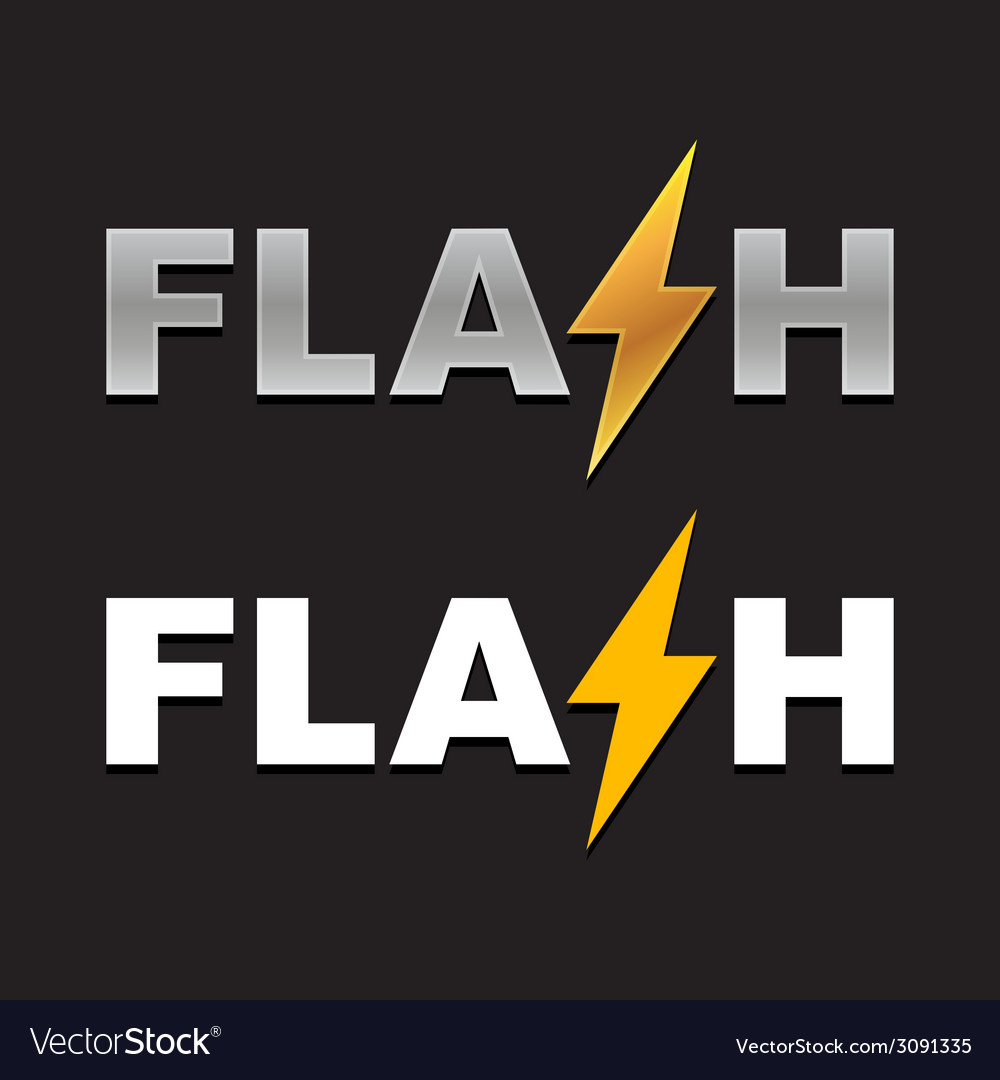 Flash logo vector | Price: 1 Credit (USD $1)