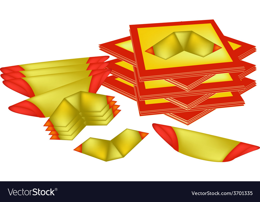 Joss paper and chinese gold paper vector | Price: 1 Credit (USD $1)