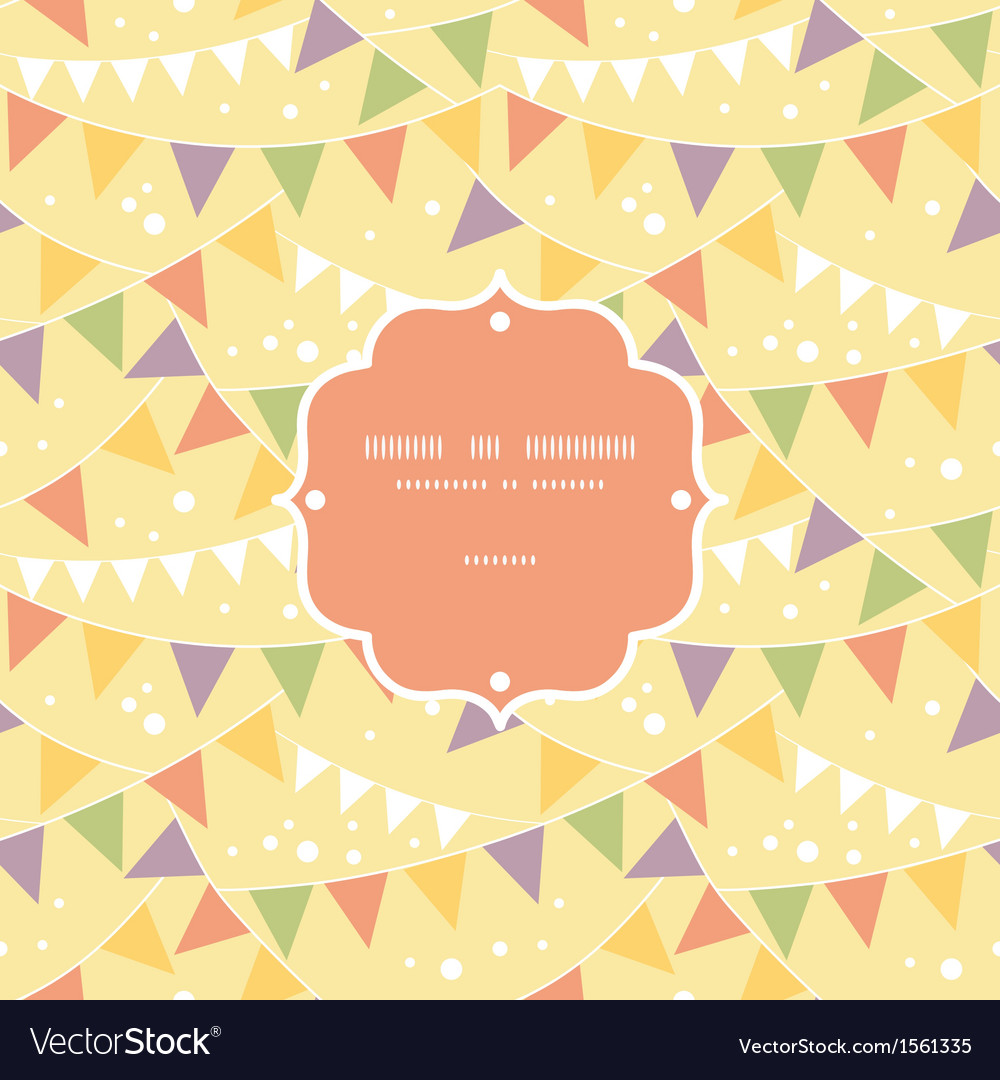 Party decorations bunting frame seamless pattern vector | Price: 1 Credit (USD $1)