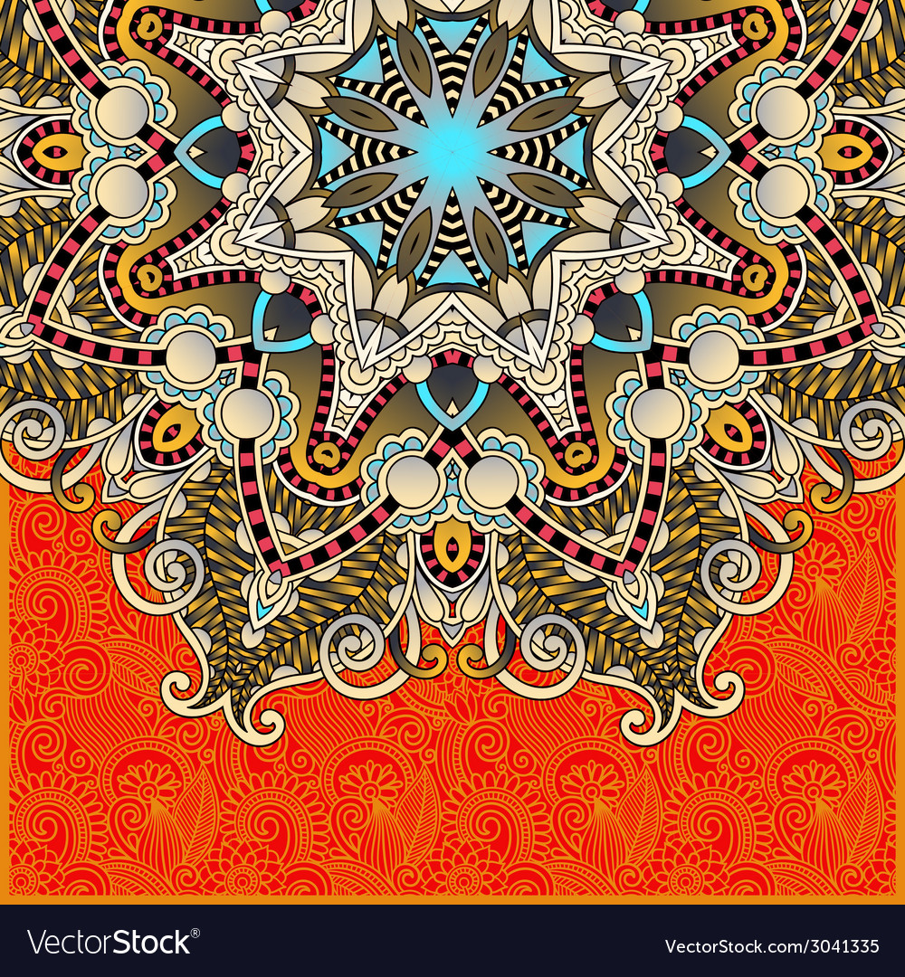 Pattern in ukrainian oriental ethnic style for vector | Price: 1 Credit (USD $1)
