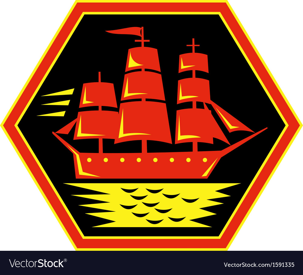 Sailing ship or clipper icon vector | Price: 1 Credit (USD $1)