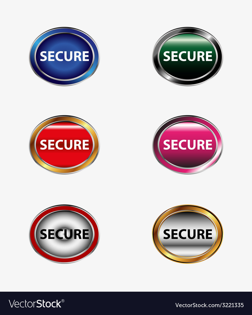 Secure button vector