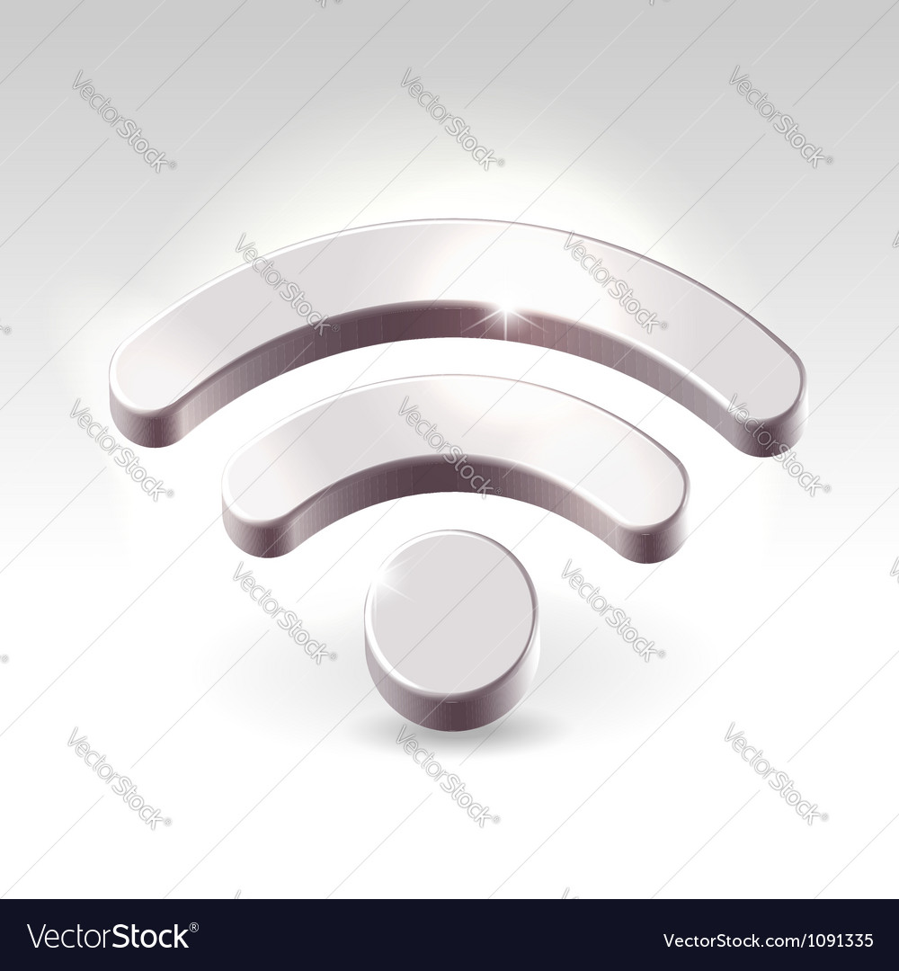 Silver rss feed icon vector | Price: 1 Credit (USD $1)