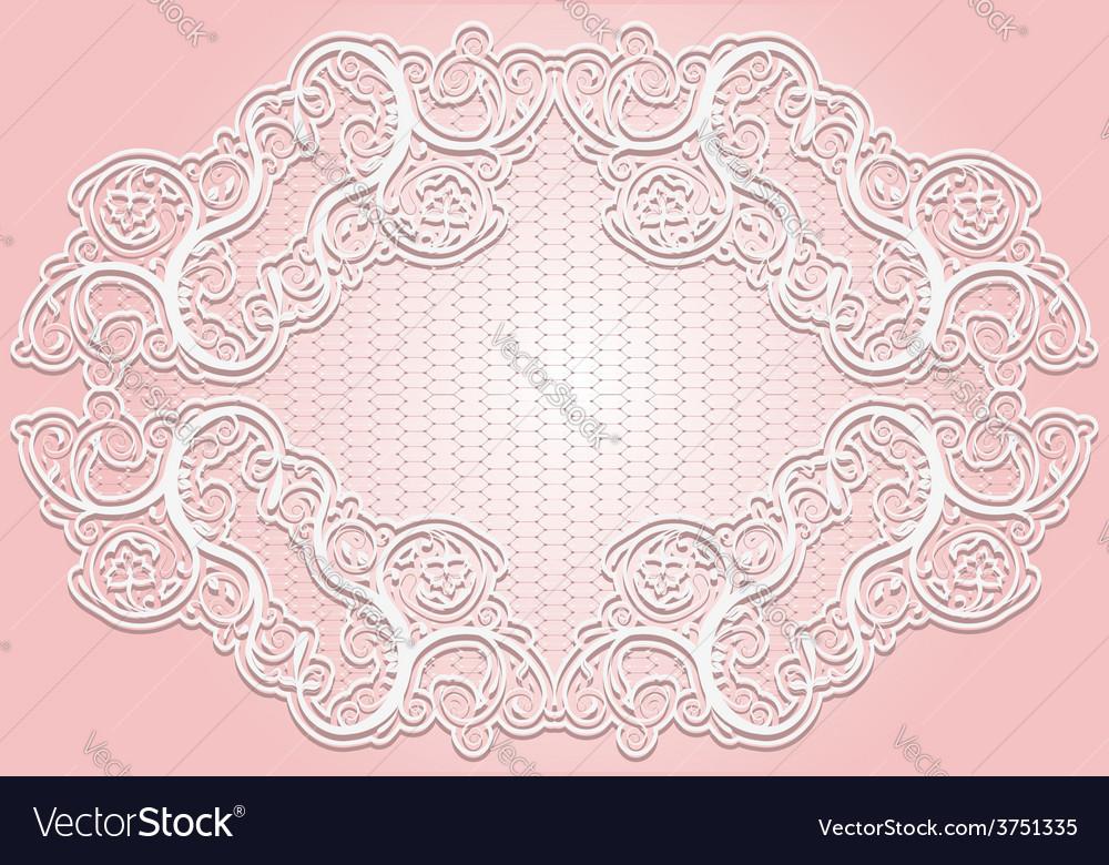 Stylish invitation or greeting card elegant lace vector   Price: 1 Credit (USD $1)
