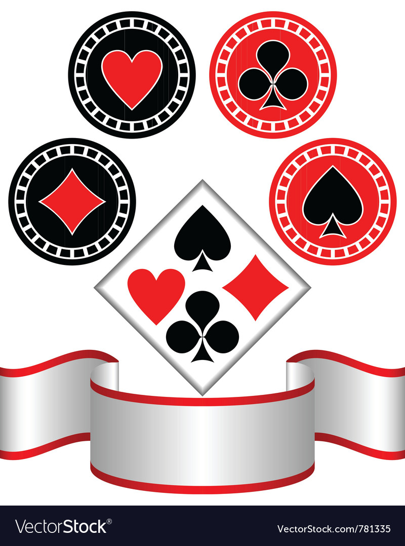 Symbols of playing cards vector | Price: 1 Credit (USD $1)