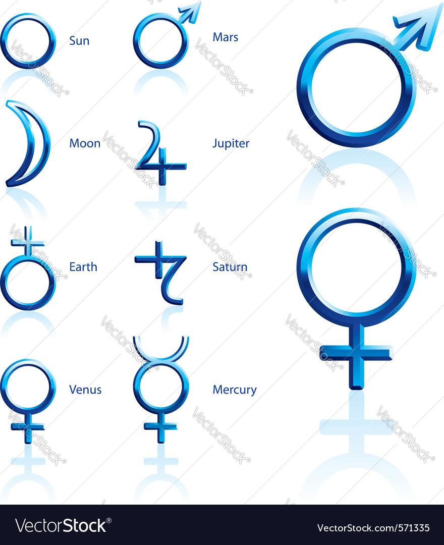 Zodiac symbols vector | Price: 1 Credit (USD $1)