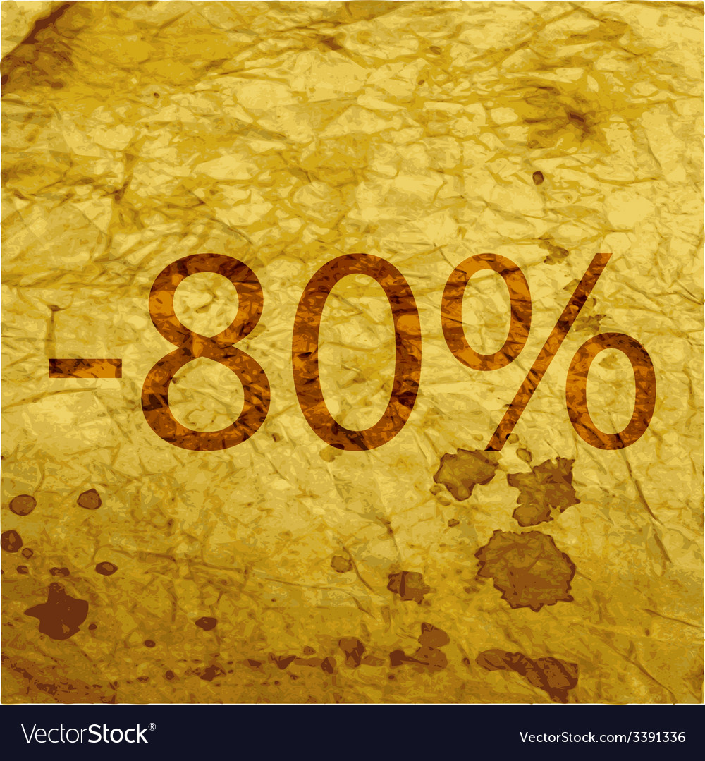 80 percent discount icon symbol flat modern web vector | Price: 1 Credit (USD $1)