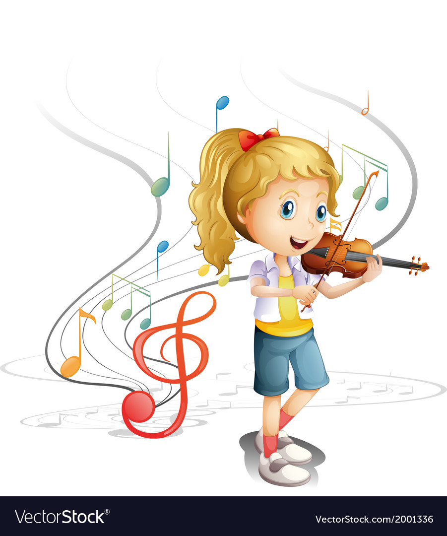 A young musician vector | Price: 3 Credit (USD $3)