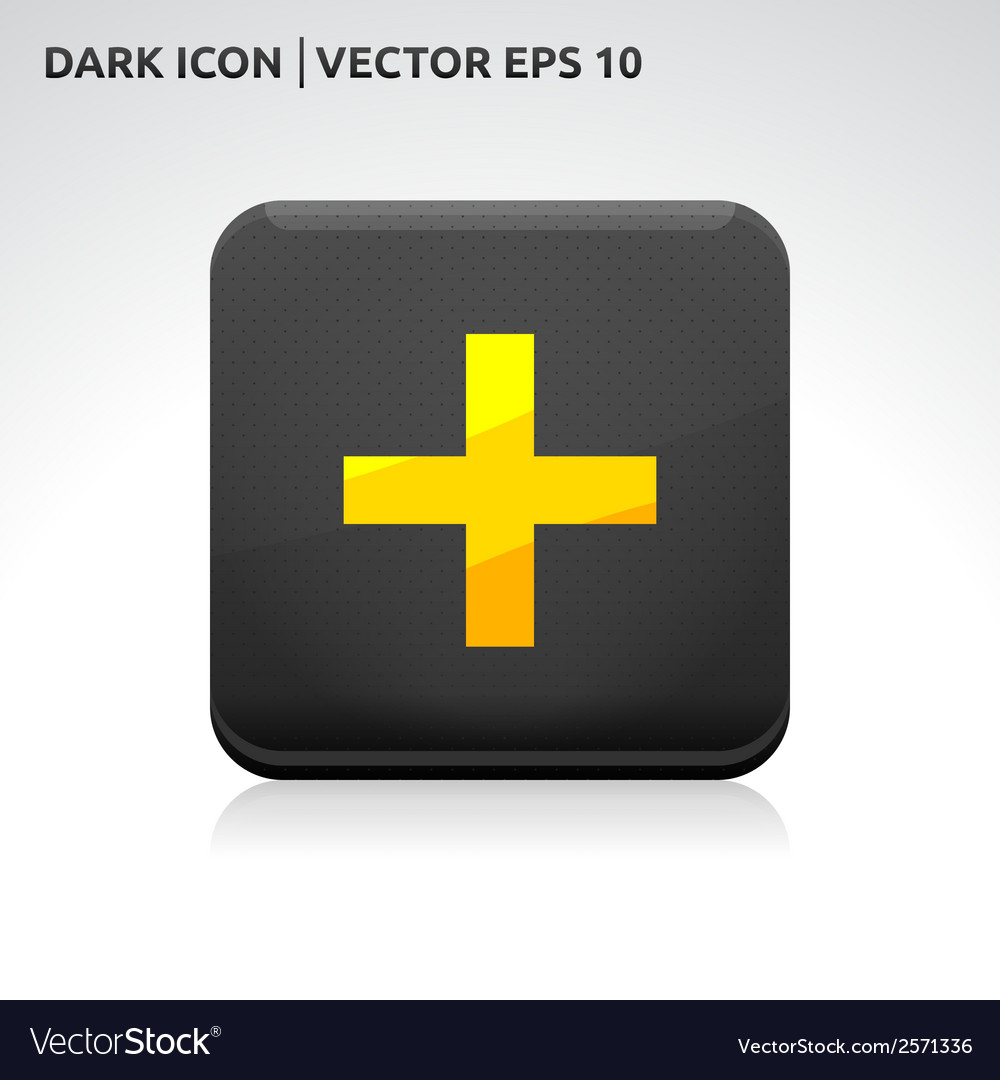 Add icon gold vector | Price: 1 Credit (USD $1)