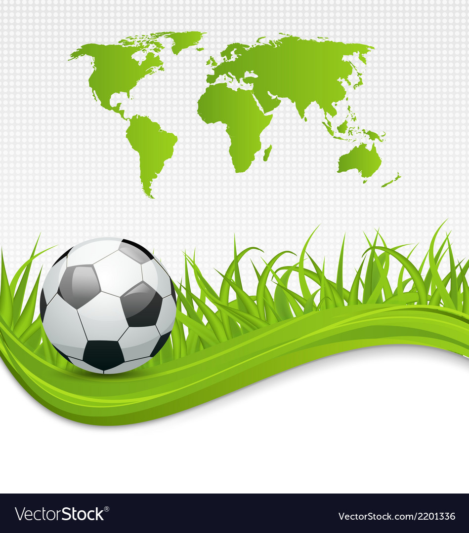 Football card with ball for brazil 2014 vector | Price: 1 Credit (USD $1)