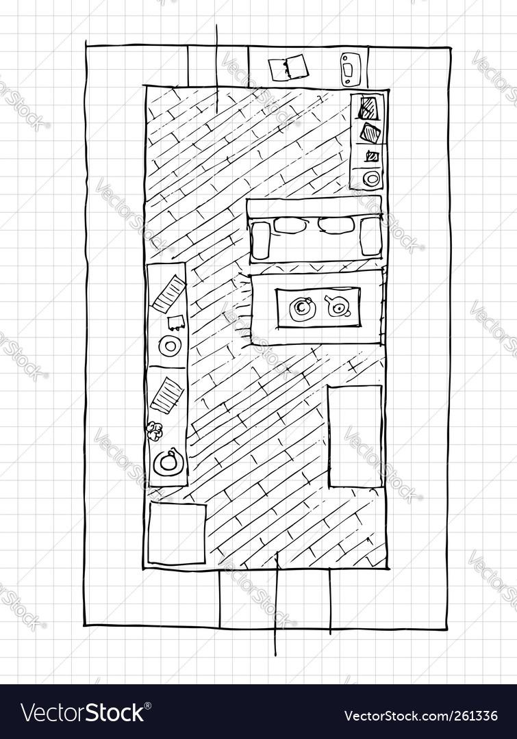 Interior design apartments top view vector | Price: 1 Credit (USD $1)