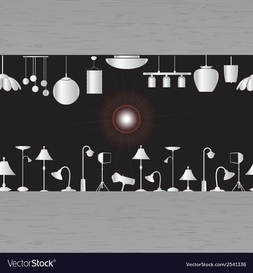Lighting in showroom eps10 vector | Price: 1 Credit (USD $1)