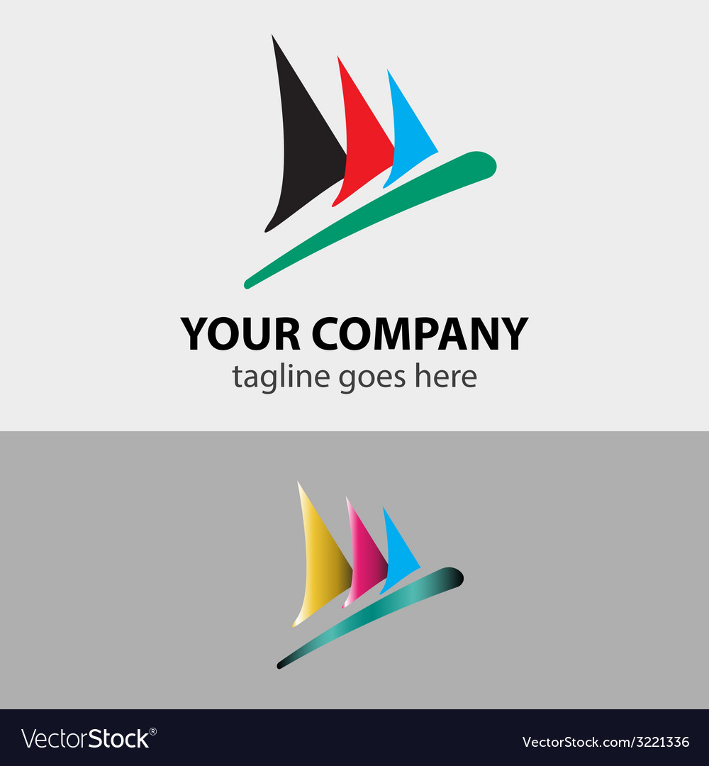 Sailboat speed sign symbol vector | Price: 1 Credit (USD $1)