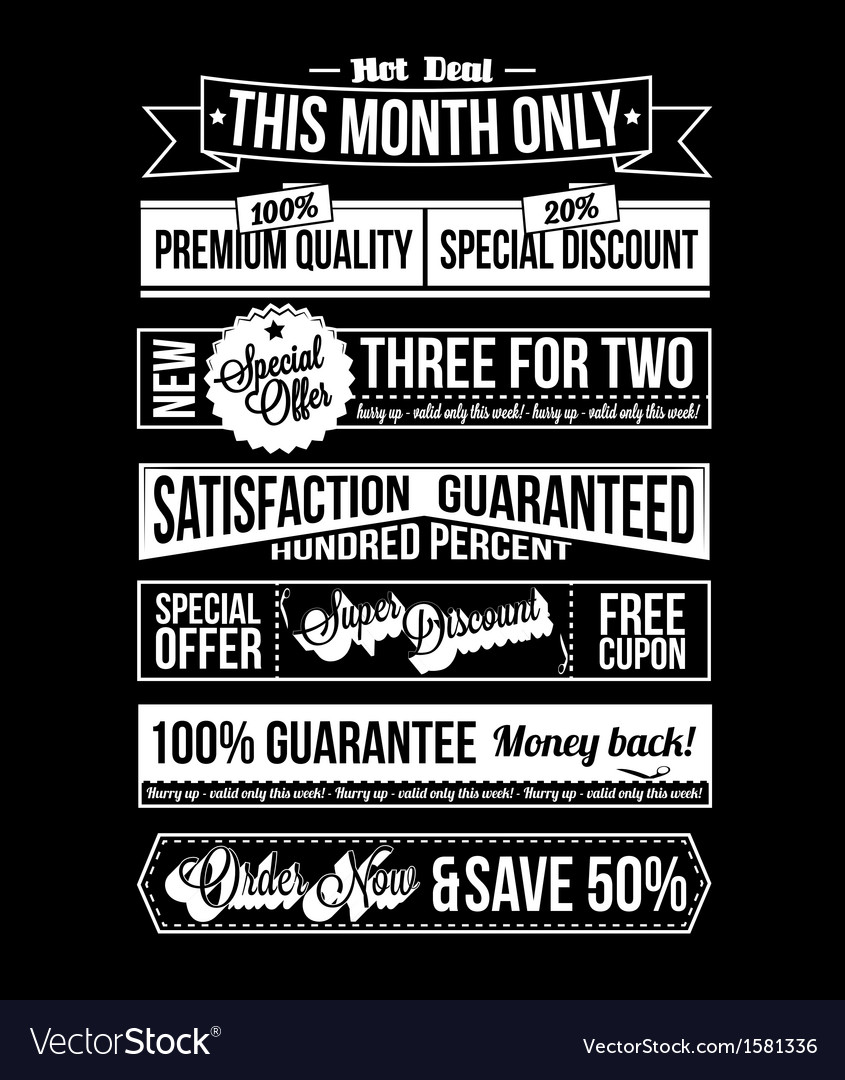 Vintage typographic business banner design vector | Price: 1 Credit (USD $1)