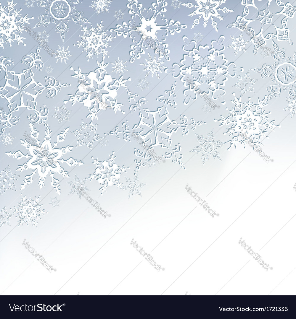 Winter stylish background with snowflakes vector | Price: 1 Credit (USD $1)
