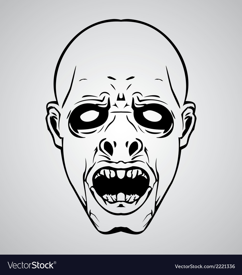 Zombie face vector | Price: 1 Credit (USD $1)