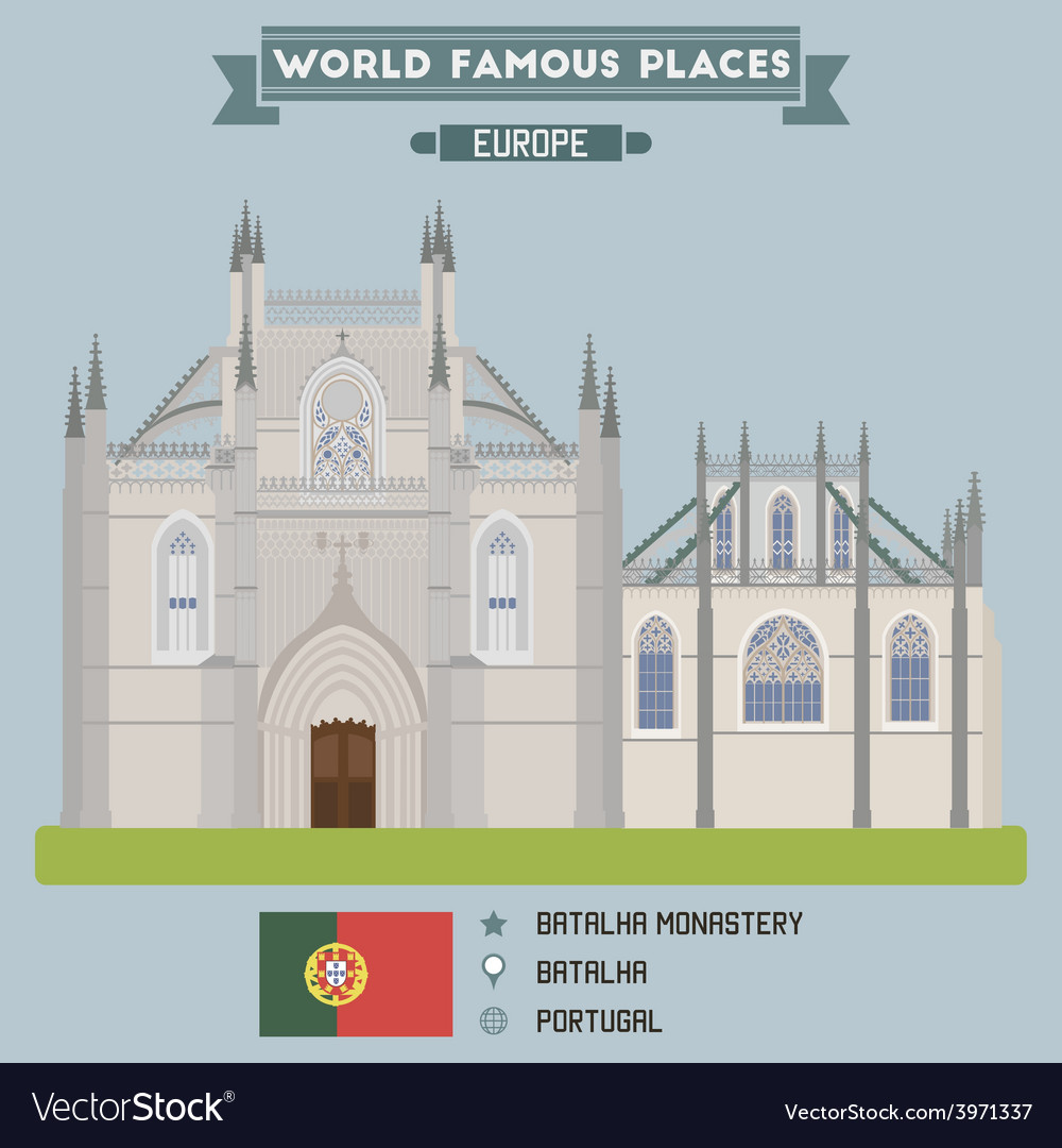 Batalha monastery vector | Price: 1 Credit (USD $1)