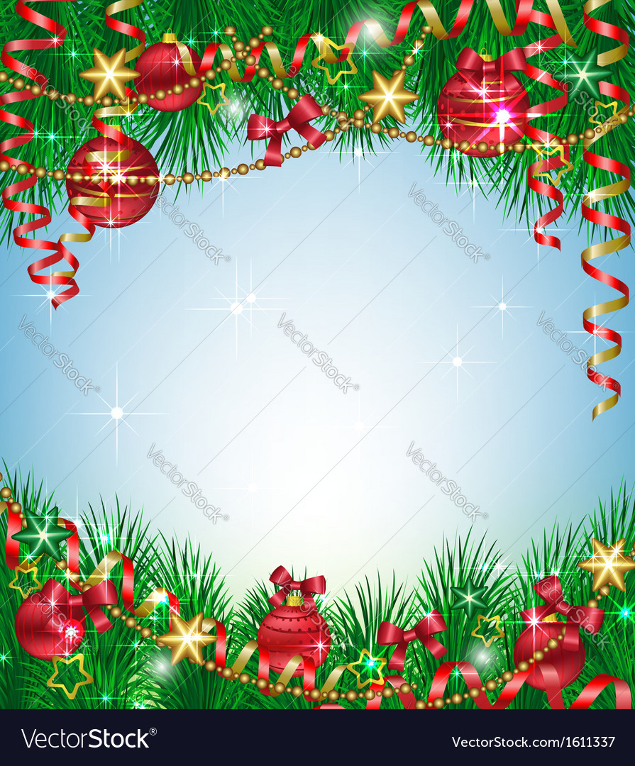 Christmas background with fir branches vector | Price: 1 Credit (USD $1)