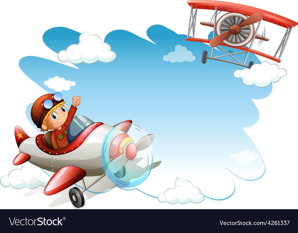 Flying jets frame vector | Price: 1 Credit (USD $1)