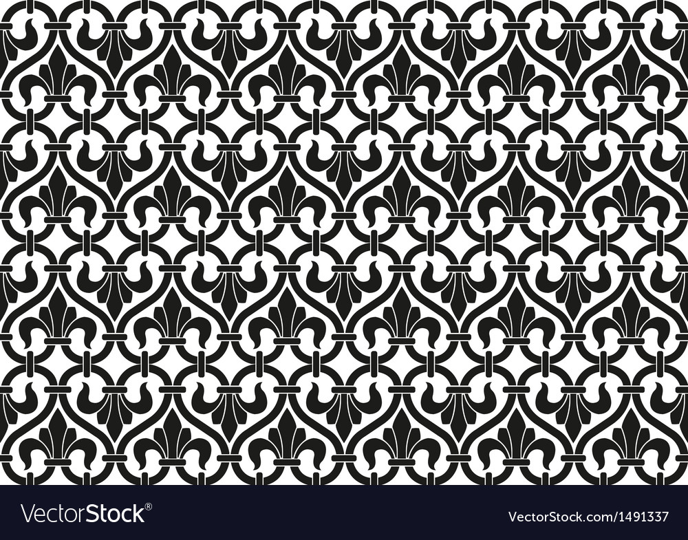 French victorian vintage seamless pattern vector | Price: 1 Credit (USD $1)