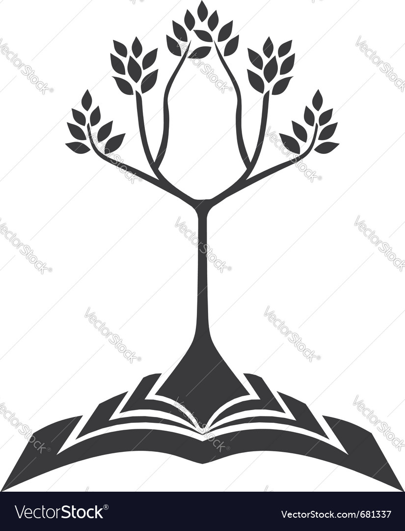 Growing tree from book vector | Price: 1 Credit (USD $1)