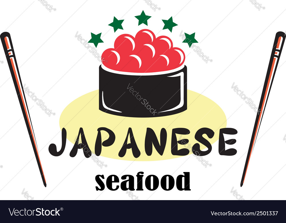 Japanese seafood vector | Price: 1 Credit (USD $1)