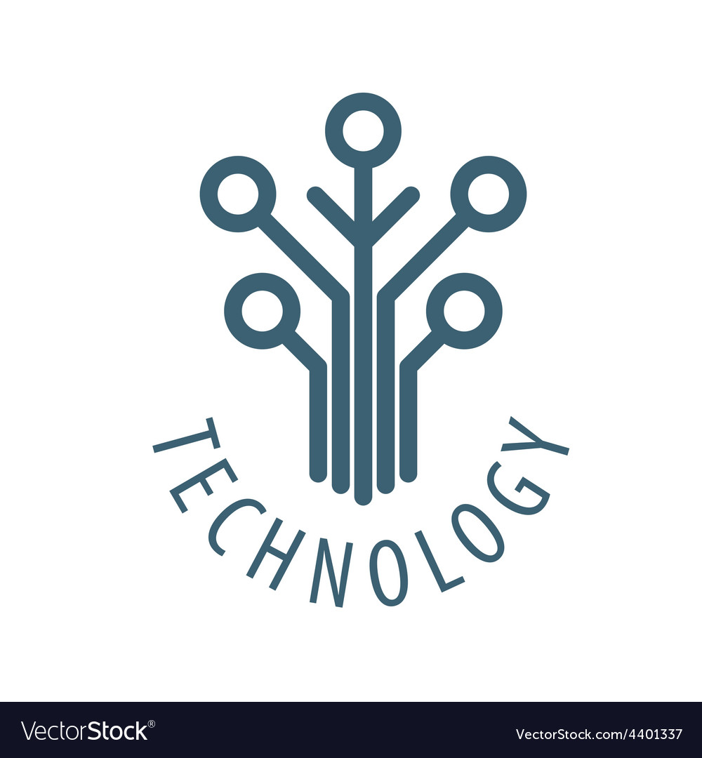 Logo tree chip technology vector | Price: 1 Credit (USD $1)