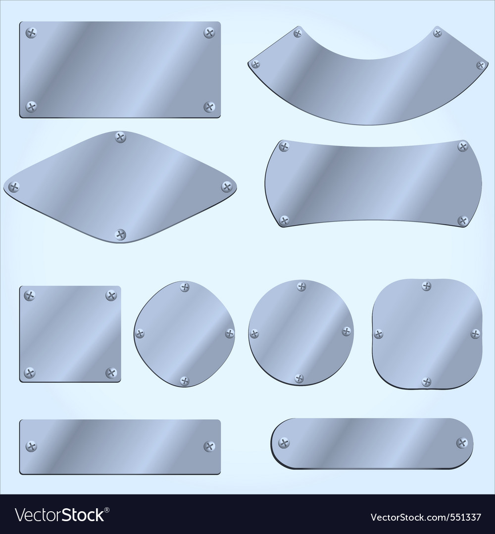 Metal plates vector | Price: 1 Credit (USD $1)