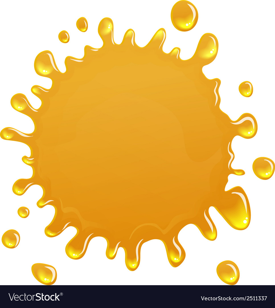 Oil or honey blotch icon vector | Price: 1 Credit (USD $1)