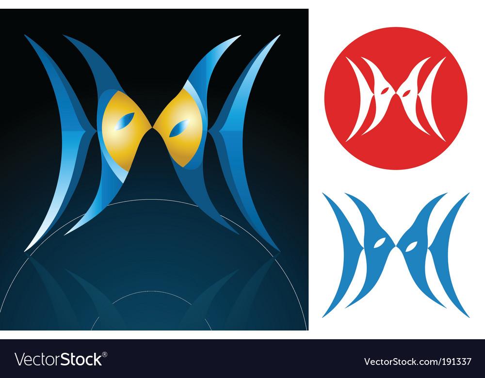 Pisces zodiac sign vector | Price: 1 Credit (USD $1)
